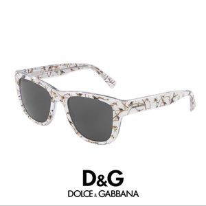 NEW Dolce & Gabbana Bird Print Sunglasses